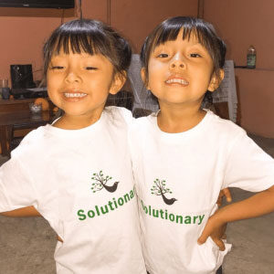 Twins in Solutionary tshirts